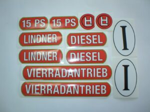Aufkleber Lindner 15 ps