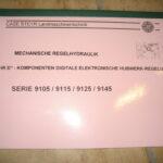 Mechanische regelydraulik 9105 9115 9125 9145