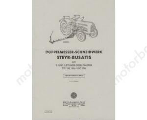 Steyr-Doppelmesser-Schneidmaehwerk-fuer-2-und-3-Zylinder-Traktor-188-188n-und-190-Ersatzteilkatalog