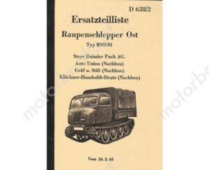 Steyr-Raupenschlepper-Ost-RS-0-01-Ersatzteilkatalog